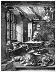 Hieronymus im Gehäus, 1514, Albrecht Dürer.