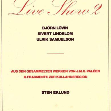 "1/4 <a href=""http://sivertlindblom.se/folio/utstallningar/kunstmuseum-luzern-live-show-ii-schweiz-1977/"" rel=""noopener"" target=""_blank"">Om Live Show II i Luzern</a> 2/4 <a href=""http://sivertlindblom.se/texter/andras-texter/jean-christophe-ammann-katalogtext-till-live-show-ii-kunstmuseum-luzern-1977/"" rel=""noopener"" target=""_blank"">Jean Christophe Ammann - Text in german für Kunstmuseum Luzern</a> 3/4 <a href=""http://sivertlindblom.se/folio/utstallningar/kunstmuseum-luzern-live-show-ii-schweiz-1977/"" rel=""noopener"" target=""_blank"">Pictures from Luzern</a> 4/4 <a href=""http://sivertlindblom.se/folio/utstallningar/moderna-museet-live-show-stockholm-1974/"" rel=""noopener"" target=""_blank"">Original Live Show 1974</a>"