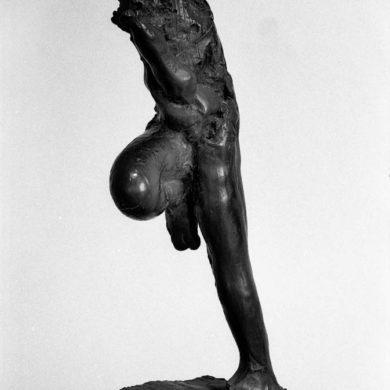 'Utan titel', (senare 'Löparen') brons, höjd 100 cm, 1959.