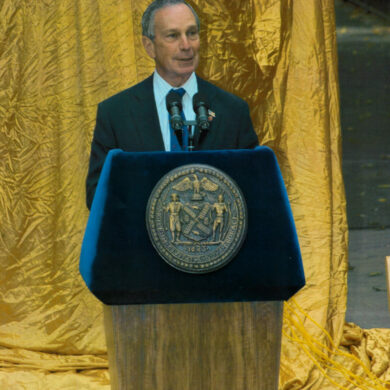 Nobel Monument Dedication Ceremony, October 14, 2003 Mayer of New York City Michael R. Bloomberg Photo: Catarina Lundgren Åström